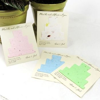 Personal seed cards for a favor idea