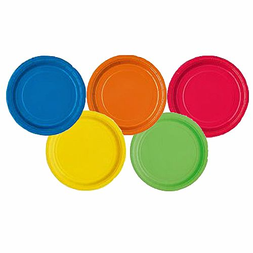 Paper Plates Bulk Pack of 80 Bright Mixed Colour Set 9 Inch £  sc 1 st  Pinterest & Paper Plates Bulk Pack of 80 Bright Mixed Colour Set 9 Inch £8.95 ...