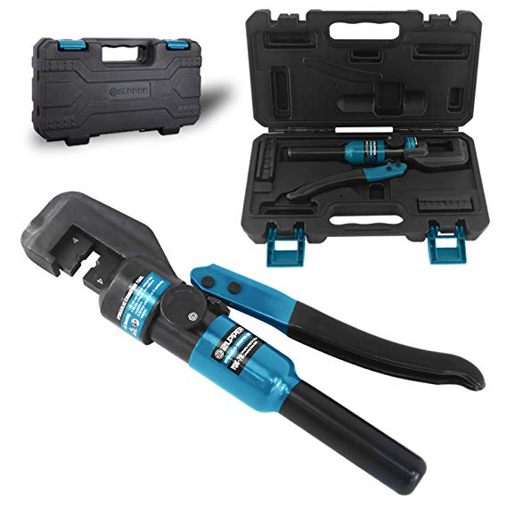 Hydraulic Cable Lug Crimper 5 Us Ton 12 Awg To 00 2 0 Electrical Terminal Cable Wire Tool Kit Amazon Com