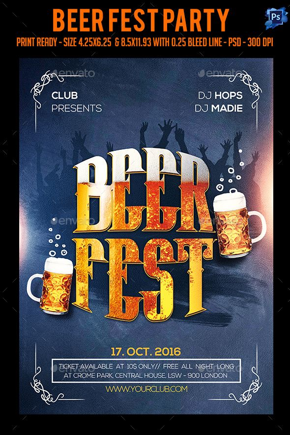 Beer Fest Party Flyer  Beer Fest Party Flyer And Flyer Template