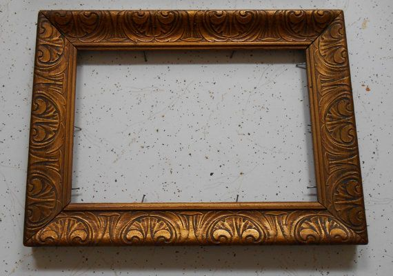 Pair of Decorative Wooden Gold Frames for Art by dabubblegumgirl