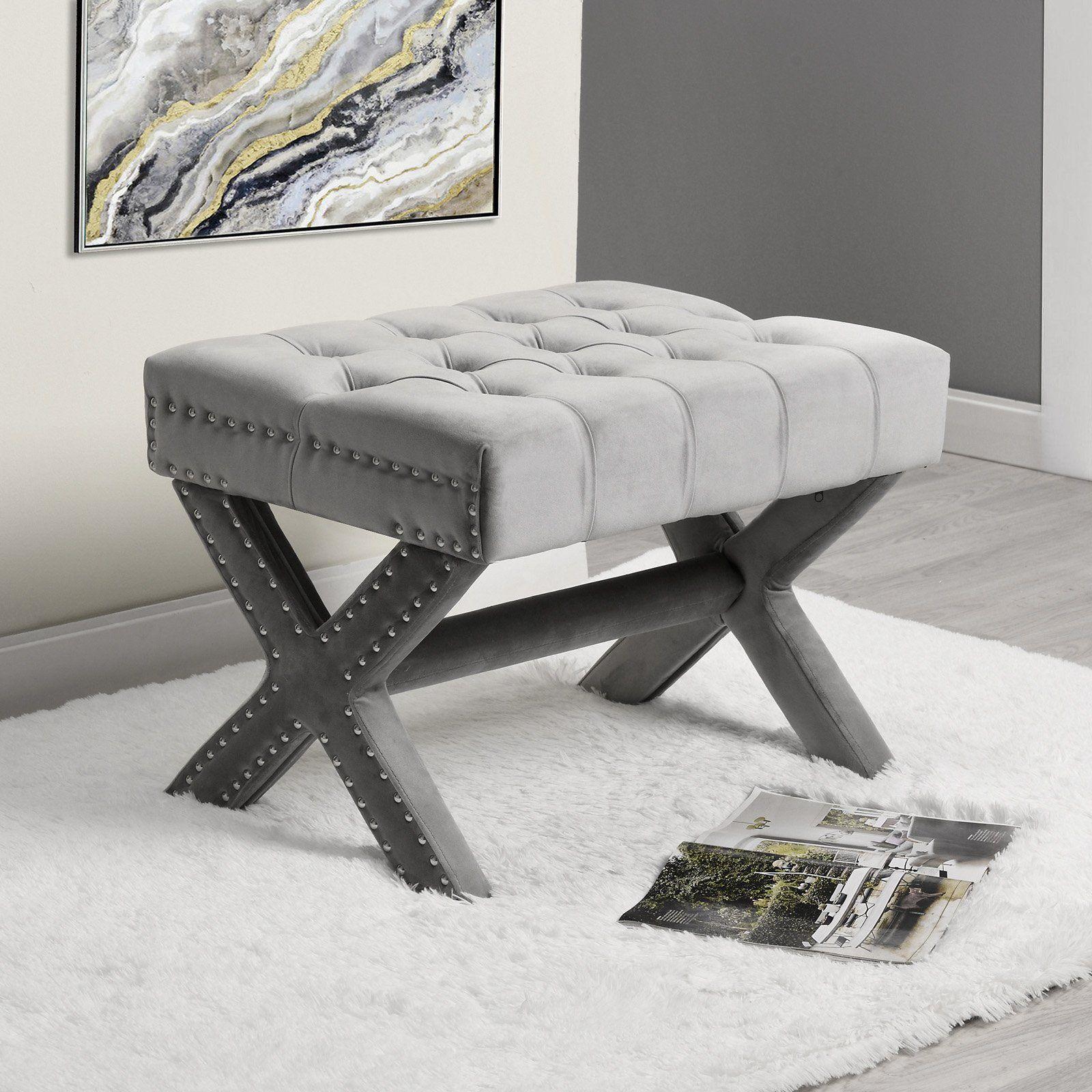Cool Inspired Home Quinn Velvet Button Tufted Nailhead Trim Inzonedesignstudio Interior Chair Design Inzonedesignstudiocom