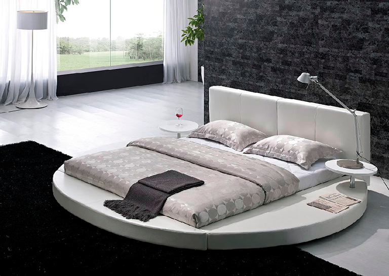 Many circular beds are almost asian in style as they are so close to the  floor