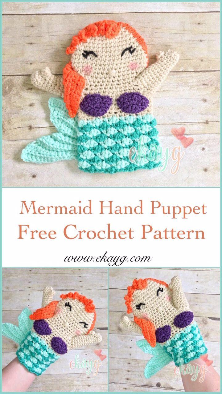 Mermaid Hand Puppet #handpuppets