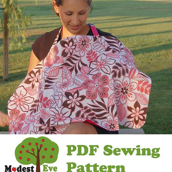 Nursing Cover Pdf Sewing Pattern By Modesteve On Etsy 395