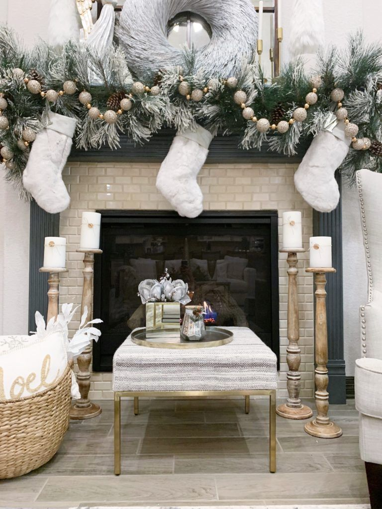 How To Decorate Your Christmas Garland Christmas Decorations Chris Diy Christmas Fireplace Christmas Decorations Apartment Diy Christmas Decorations For Home