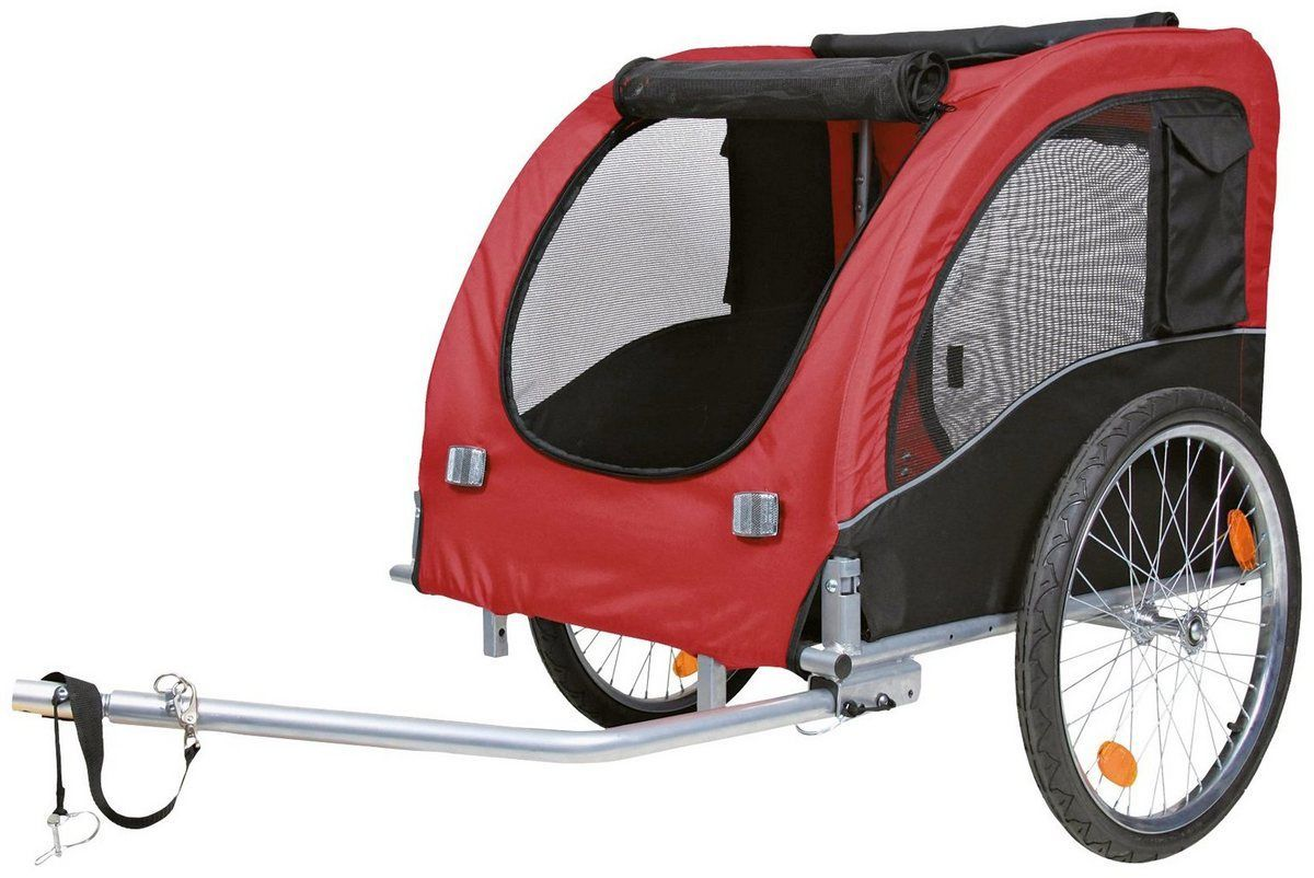 Hunde Fahrradanhanger 75x86x80 145 Cm Produktdetails Farbe Rot Inkl Beleuchtung Nach Stvzo Nein Zuladung Max In 2020 Fahrradanhanger Hunde Fahrrad