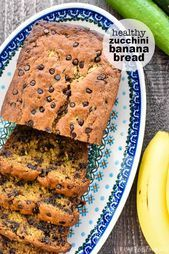 Healthy Zucchini Banana Bread is moist and delicious made with whole wheat flou  dash diet