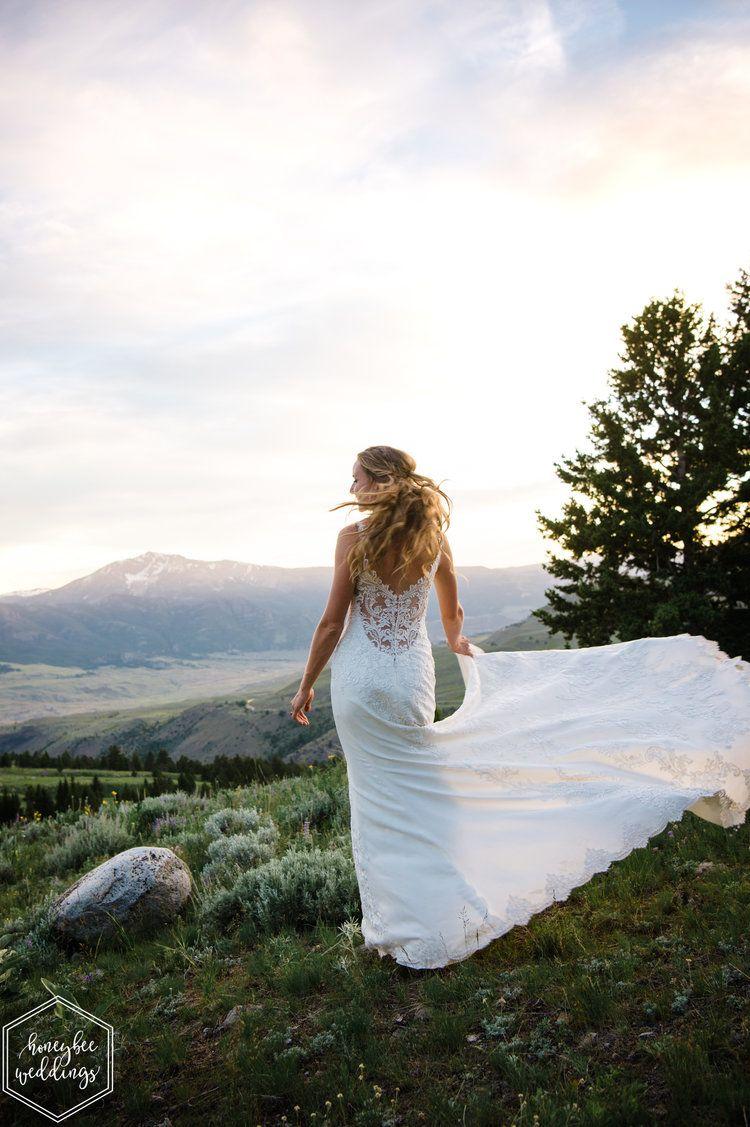 Yellowstone National Park Wedding Twirlable Wedding Dress National Park Wedding Montana Wedding Photographer Park Weddings