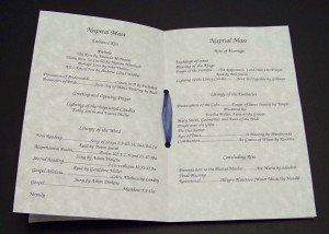 nuptial mass booklet wedding ideas for stephanie pinterest