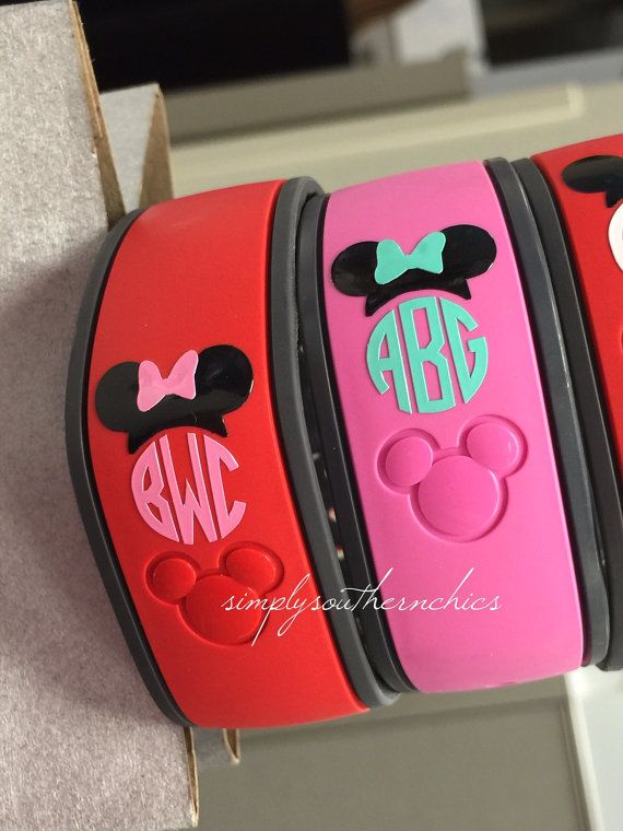 Monogrammed Disney Magic Bands Disney por ...