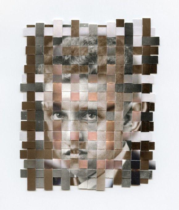 Han väver ihop tre delar av ens liv i ett enda porträtt http://blish.se/884d5b2706 #porträtt #remnants #gregsand #vävdafoto