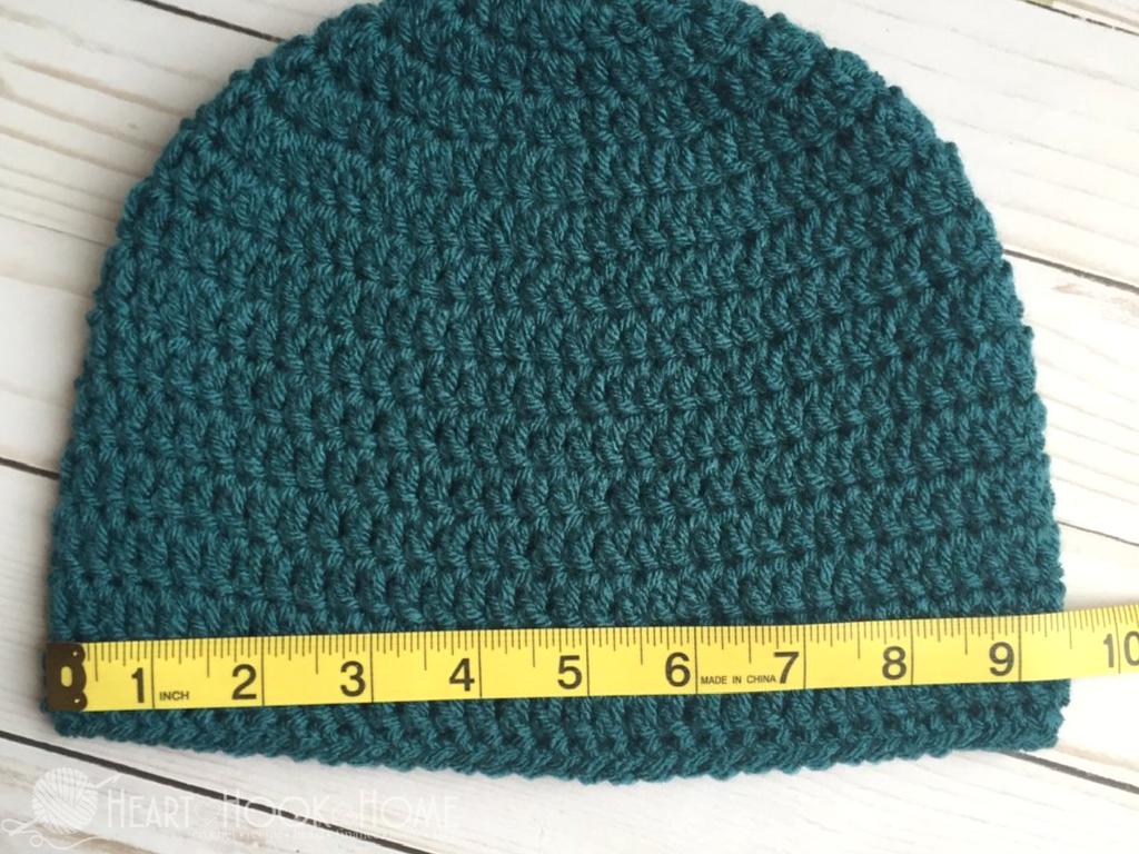 How to Size Crochet Beanies + Master Beanie Crochet Pattern | Patrón ...