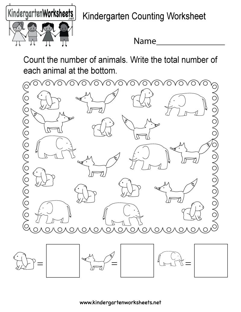 This Is A Cute Animal Themed Counting Worksheet For Preschoolers Or