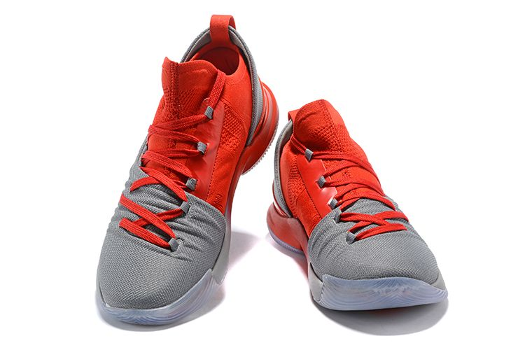 23b0c08193c Under Armour Curry 5 Low Grey Red Men s Basketball Shoes