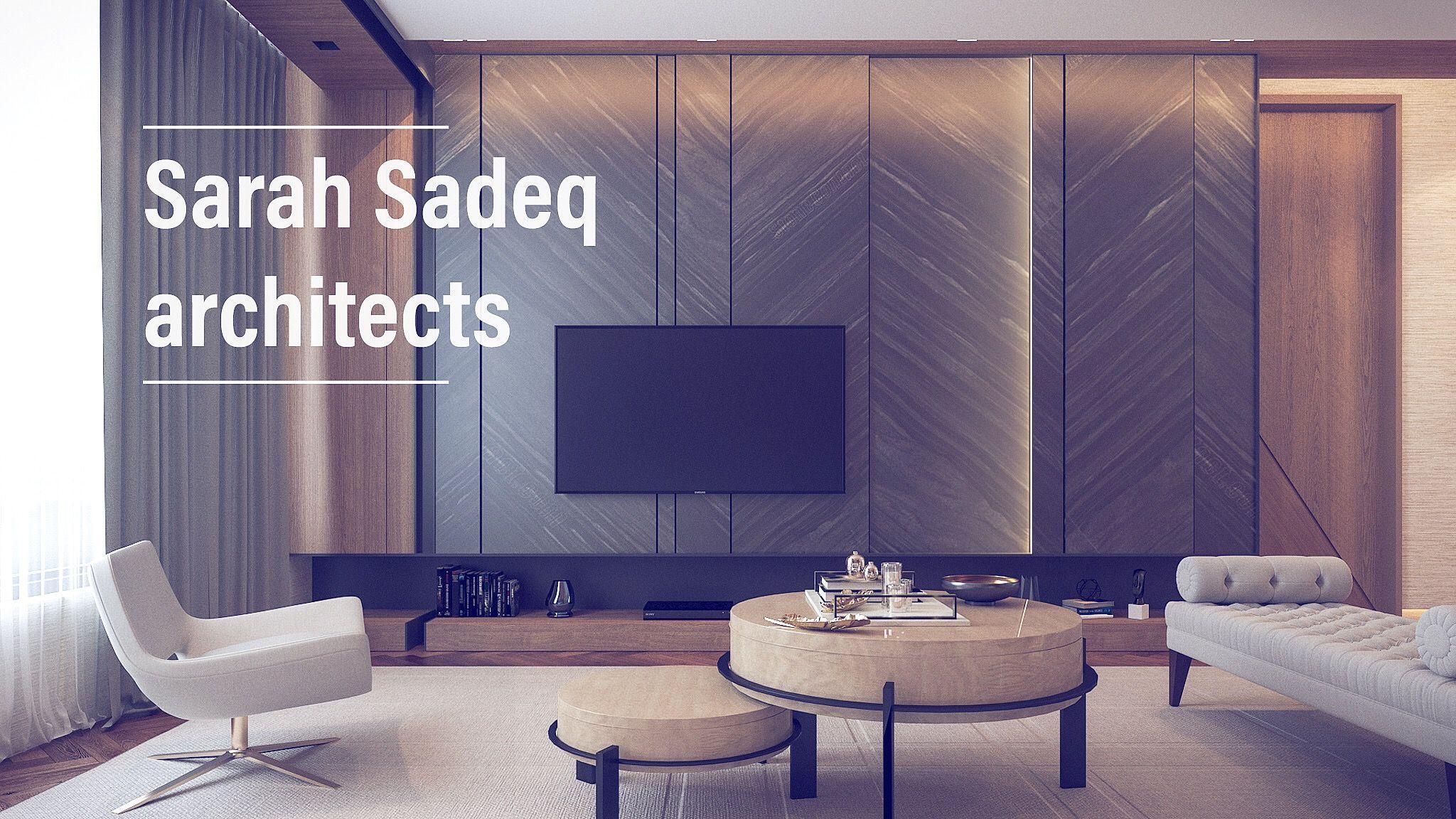 Interior By Sarah Sadeq Architects Private Villa Kuwait Living Room Tv Unit Designs Interior Design Furniture Living Room Designs