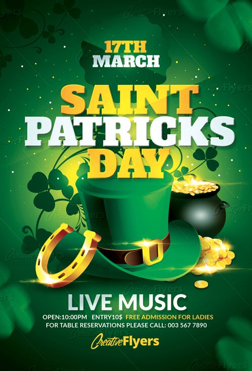 Create flyer that stand out ! St Patricks Flyer Templates, design