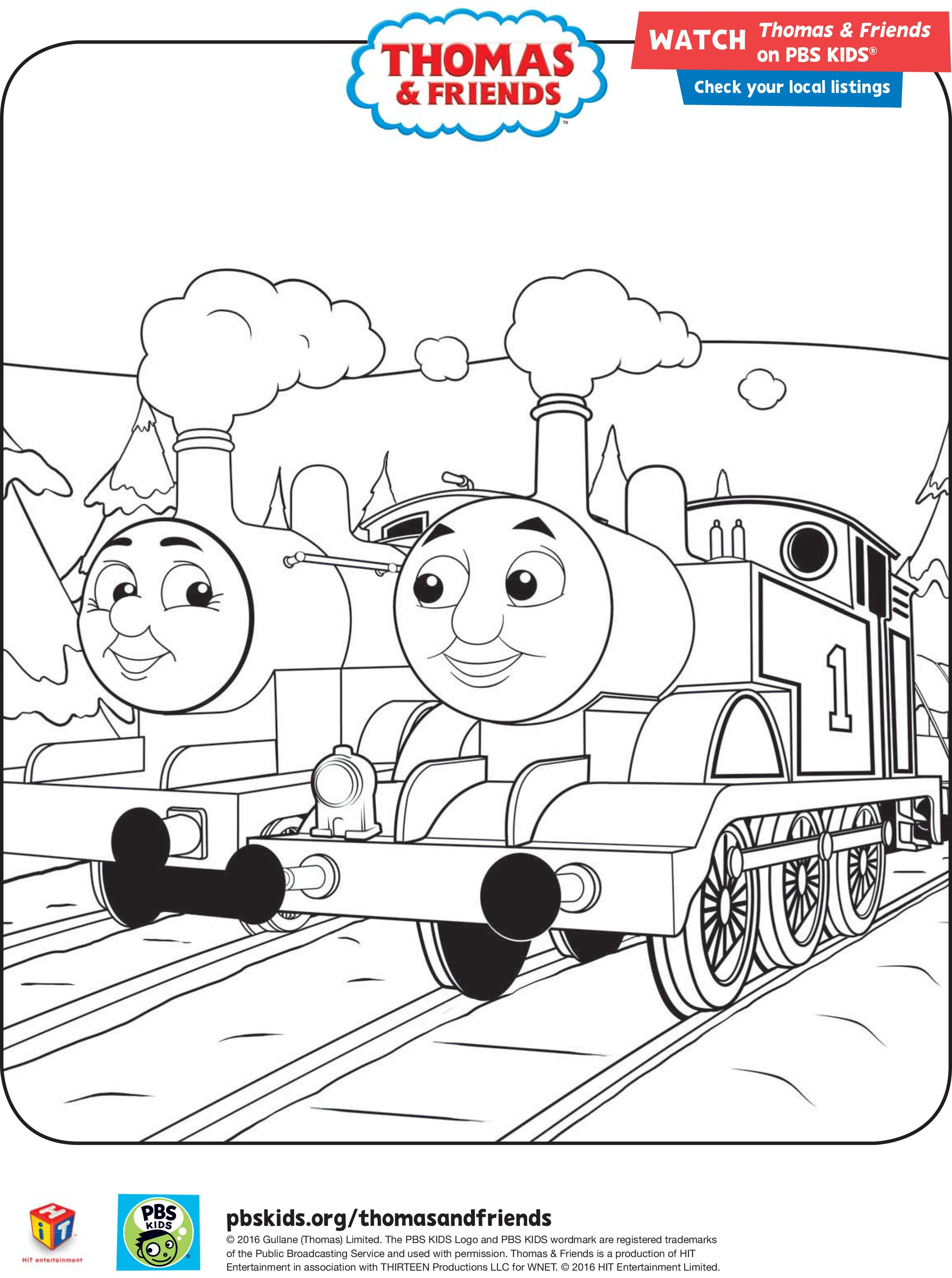 Thomas and Friends winter coloring sheets #ThomasandFriends #PBSKids ...