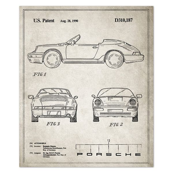 Blueprints for Famous Inventions - copy plane blueprint wall art