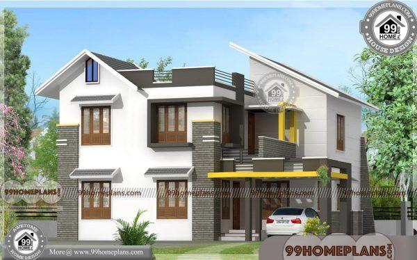 Home Front Design Kerala 2 Floor 30 Lakh Budget House Plan Photos