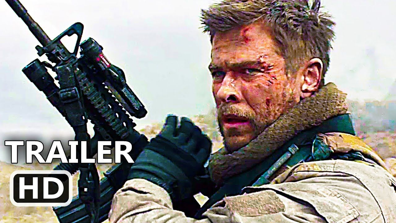 12 str ng official trailer 2018 chris hemsworth action movie hd youtube military heroes. Black Bedroom Furniture Sets. Home Design Ideas