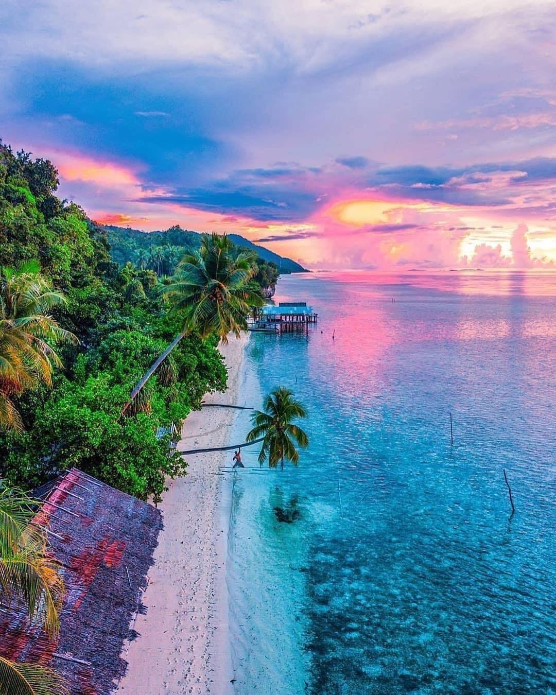 """Cotton Candy Paradise In Bali 🍭 🌅 By @rickardsvartgrund"