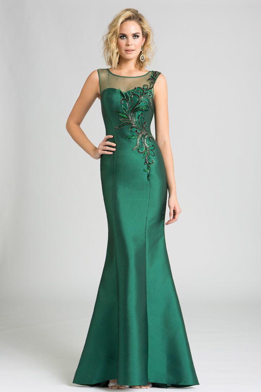 Feriani Couture - 18624 Beaded Illusion Bateau Sheath Dress