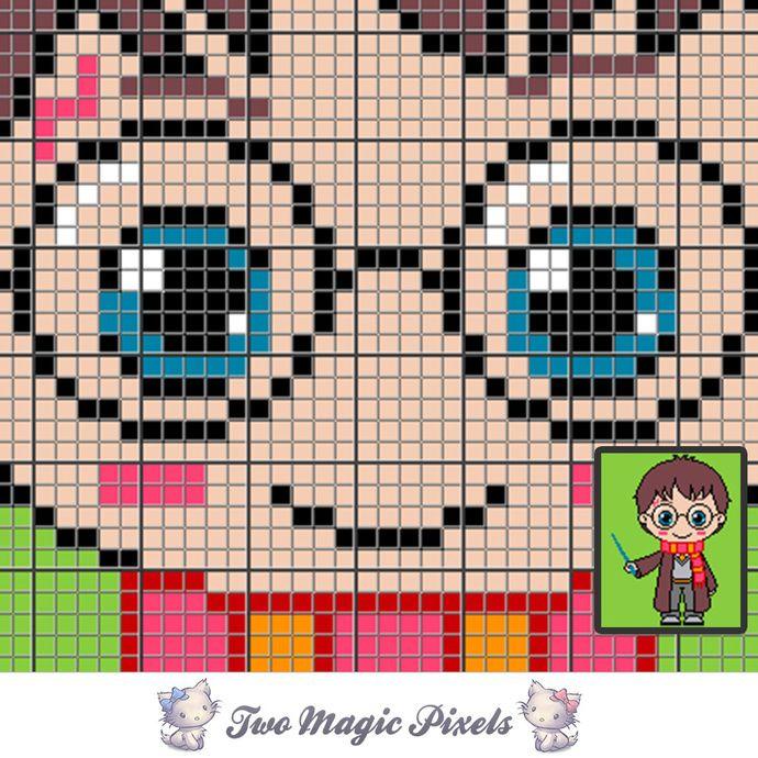 Mini C2c Pattern: Mini Harry Potter Crochet Blanket Pattern; C2c, Knitting