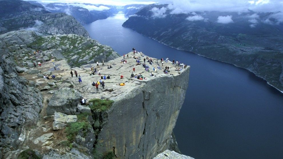 Prekestolen. FOTO: Casper Tybjerg - Visitnorway.com Impressing place, but I don't think I'll ever go there myself. Some people actually sit on the edge...