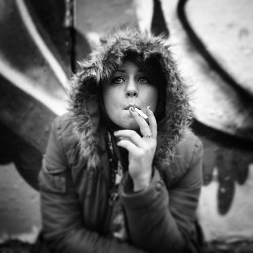 Sorry if smoking offends anyone, I happen to think it works in this one! #black and #white #portrait #film #120 #medium #format #graffiti #smoking #ilford #sfx200
