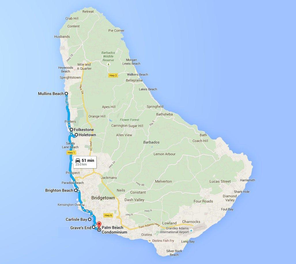 barbados snorkeling map | barbados beaches, best snorkeling