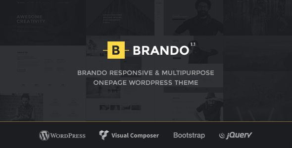 Free Download Brando v13 Responsive and Multipurpose OnePage - wordpress resume template