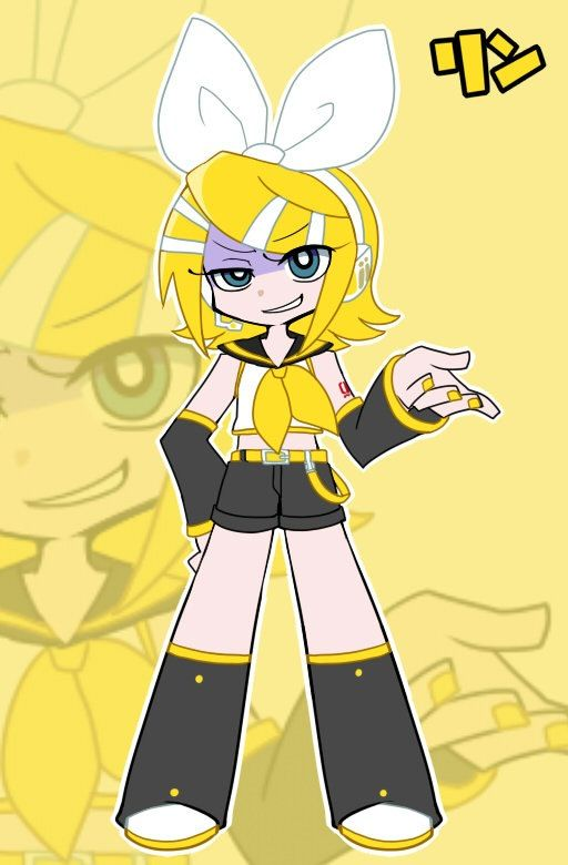 Rin Kagamine From Vocaloid Panty And Stocking Style Au