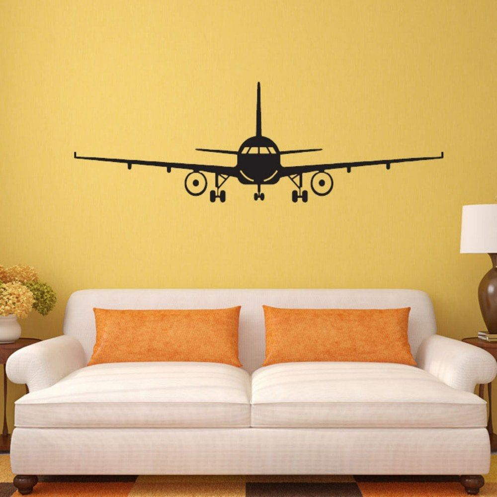 Airplane Vinyl Wall Sticker Airplane Wall Art Decal Decoration Vinyl ...