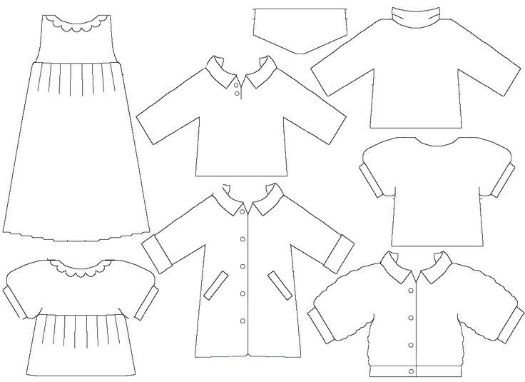 Doll Clothing Template Free And
