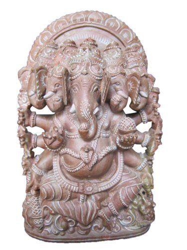 Ganesha stone sculpture spiritual statue