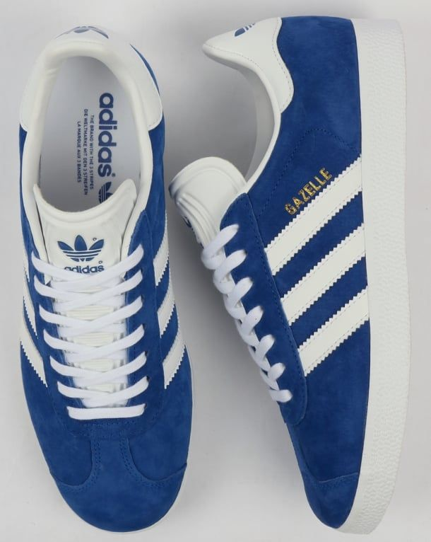 cheap for discount 1679b 3be93 Adidas Gazelle Trainers Royal BlueWhite,Originals,Classics at 80s Casuals