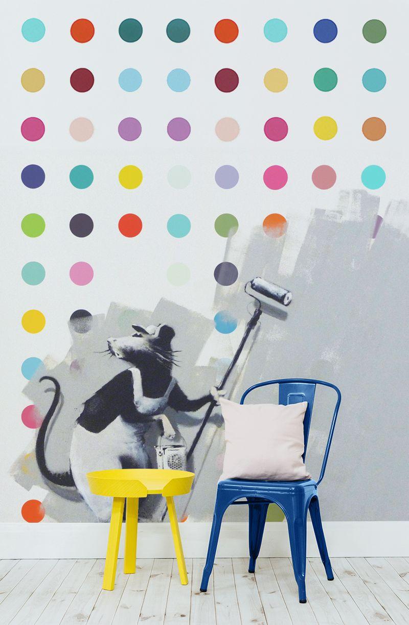 Banksy Rat Dots Wallpaper Wall Mural Pinterest Banksy Rat