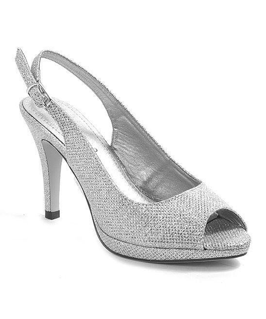 Silver Glitter Tracy Pump