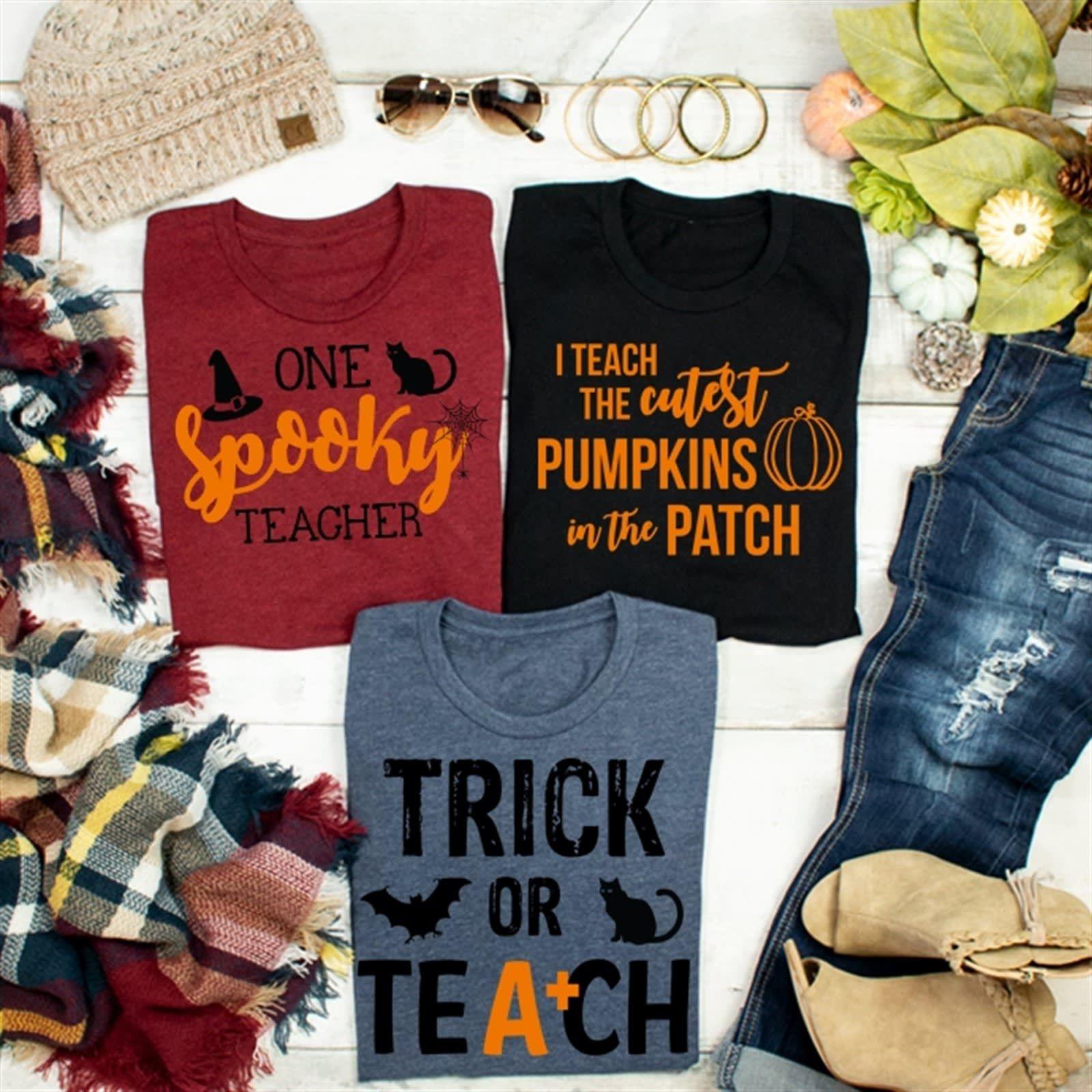 Trick or Teach Tees Teaching shirts, Fall gifts, Teaching