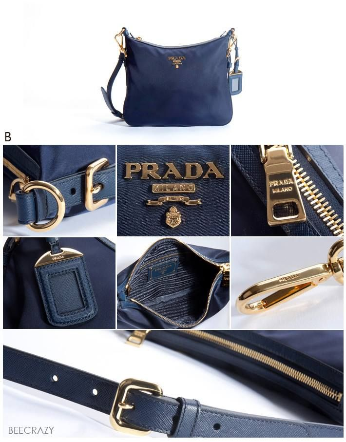 PRADA NYLON SLING BAG BT0706 NAVY BLUE   BALTICO MADE IN ITALY ... c031c16e644be