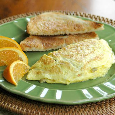 Swiss Cheese and Green Olive Omelette