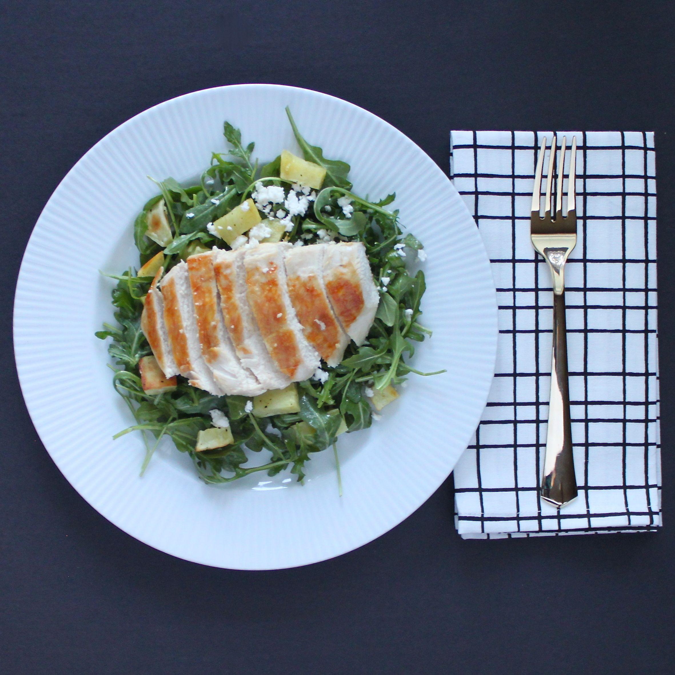 Arugula, Sweet Potato and Feta Salad