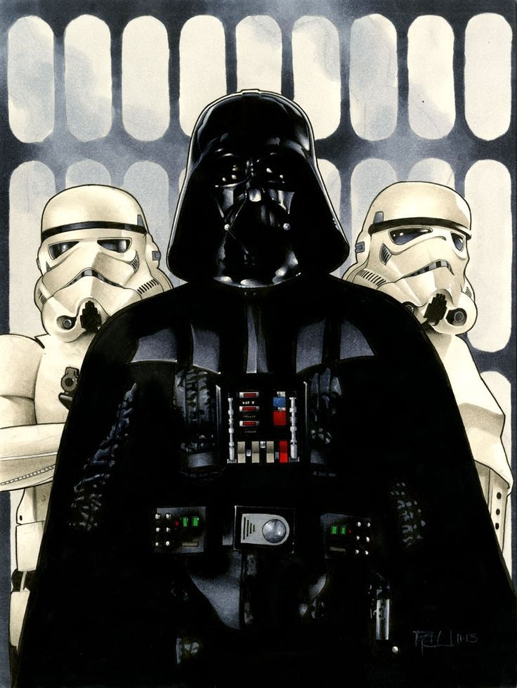 margaretems:    Darth Vader by Richard Cox   From one science fiction lover to another.