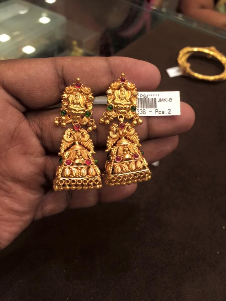 gold jhumkas design | Jewellery | Accessories | Pinterest | Gold ...