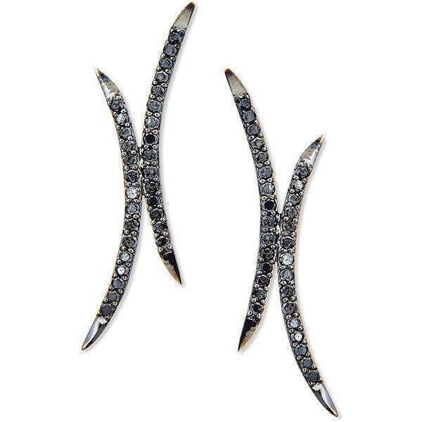 Lana Jewelry Reckless Mirage Black Diamond Earrings c6LHJEf