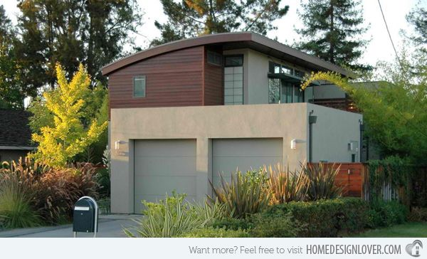 15 Detached Modern And Contemporary Garage Design Inspiration Home Design Lover Apartments Exterior House Exterior Modern Garage