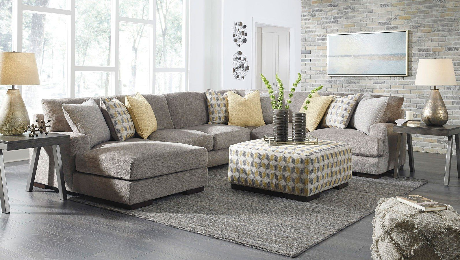 Fallsworth Smoke Modular Sectional Set | Quality living ...