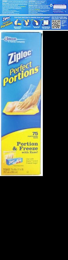 Ziploc Perfect Portion Bags Portions Freezer