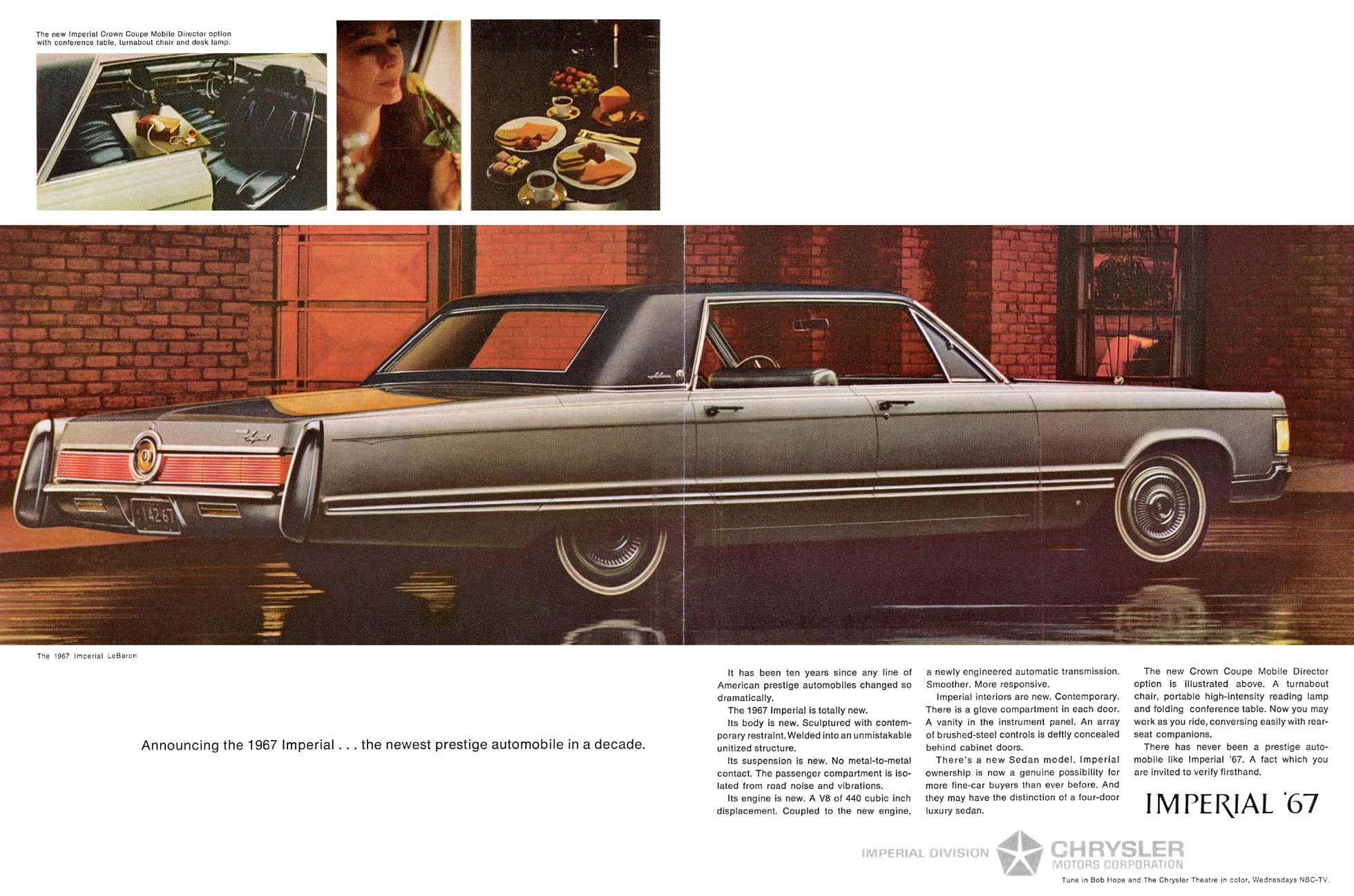 1967 Imperial Ad 08 Chrysler Cars Chrysler Imperial Chrysler Cordoba